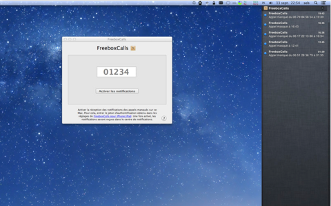 FreeboxCalls MacOSX