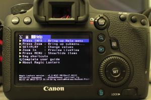 Magic Lantern Canon EOS