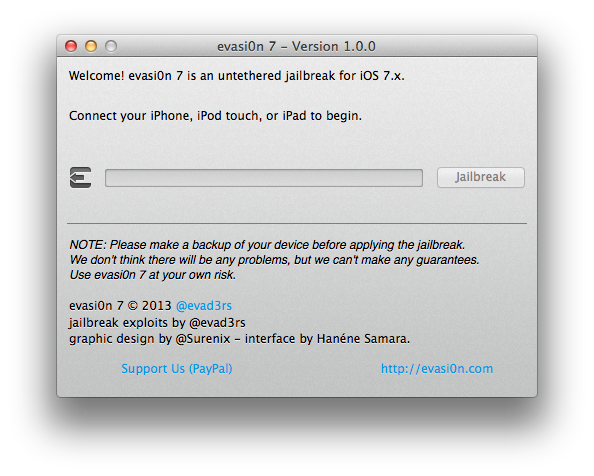 App MAcOSX Evasion iOS7